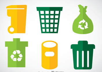 Dumpster Flat Icons Vector Sets - бесплатный vector #353413