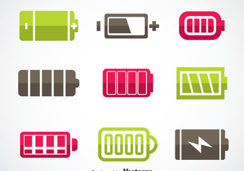 Phone Battery Icons Sets - vector gratuit #353483