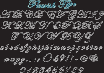Flourish Type Vector Set - vector gratuit #353543