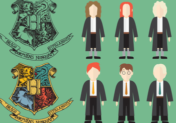Harry Potter Character Vectors - vector gratuit #353553