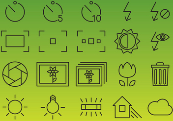 Camera Interface Vector Icons - vector gratuit #353643