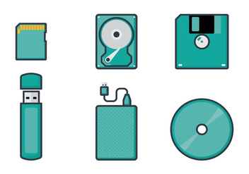Digital Storage Vectors - vector gratuit #353663