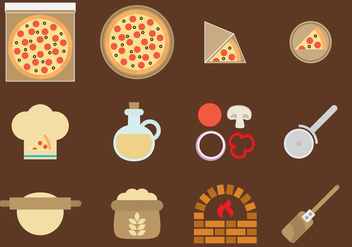 Vector Pizza Icons - vector gratuit #353713