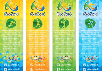 Vertical Olympic Banner Vectors - бесплатный vector #353743