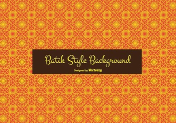 Batik Style Vector Background - Free vector #353883