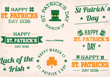 St Patrick Day Vector Labels - Kostenloses vector #353893