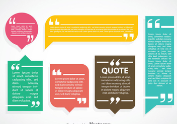 Colorful Qoutation Mark Speech Bubble Vector Sets - vector #353943 gratis