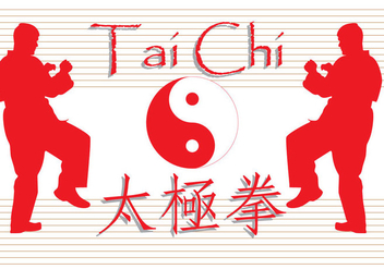 Free Tai Chi Written Vector - Free vector #354003
