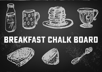 Free Food And Drink Vector Chalkboard - бесплатный vector #354023