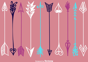 Hand Drawn Arrow Vectors - Free vector #354043