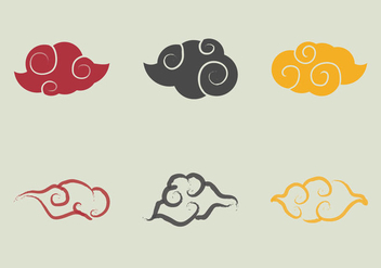Free Chinese Clouds Vector Illustration - vector gratuit #354063