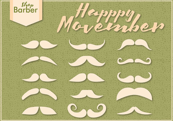 Movember Mustache Season Vectors - бесплатный vector #354083