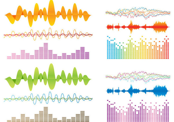 Colorful Sound Bar Vectors - vector #354123 gratis