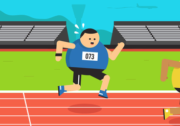 Vector Guy Running - Free vector #354143