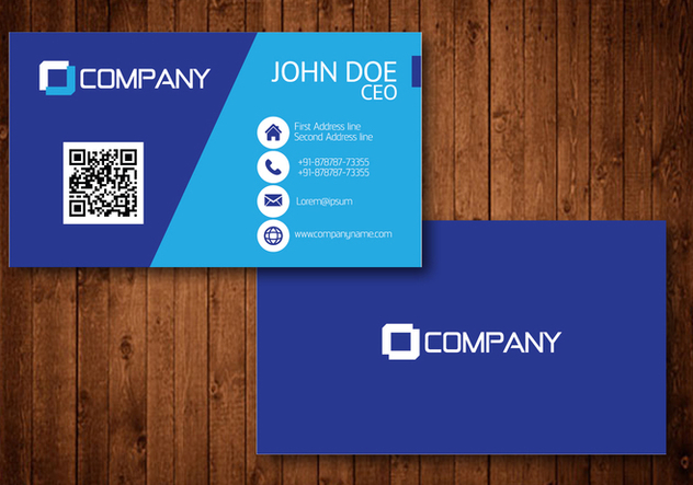 Blue Creative Visiting Card Vector - Free vector #354183