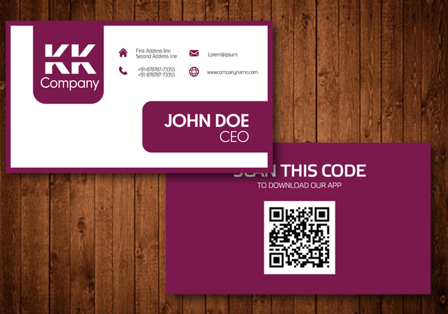 Two Sided Business Card Vector Design - Free vector #354193