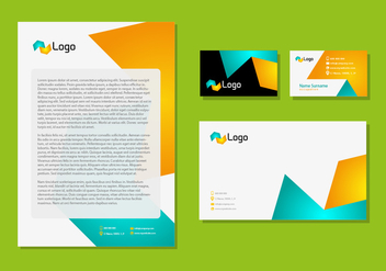 Letter Head Design Corporate Identity Stationery Technologic - vector #354213 gratis