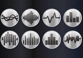 Sound Bars Vector - vector #354223 gratis