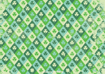 Grunge Style Shamrock Vector Pattern - Free vector #354283