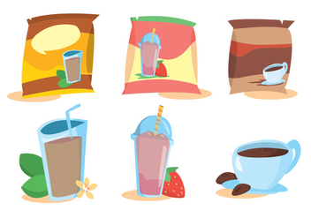 Instant Drink Sachet Vector Set - бесплатный vector #354303