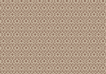 Outlined Arabic Pattern Background - vector #354313 gratis