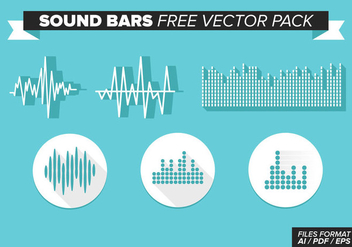 Sound Bars Free Vector Pack - vector #354323 gratis