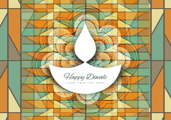 Diya For Diwali Festival - Free vector #354353