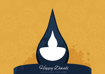 Decorative Diwali Lamp - vector gratuit #354473