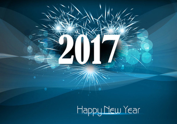 Happy New Year 2017 With Fire Cracker - vector #354553 gratis