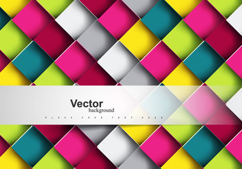 Colorful Mosaic Pattern - vector gratuit #354583