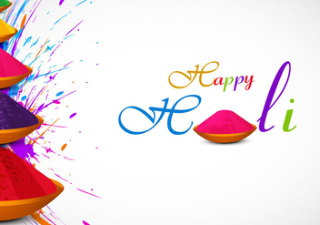 Holi Card With Powder Color - Free vector #354613