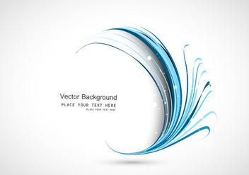 Blue Circle Wave - Free vector #354723