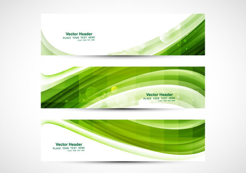 Business Card With Green Wave - vector gratuit #354803