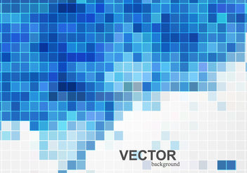 Card With Blue Mosaic Titles - бесплатный vector #354843