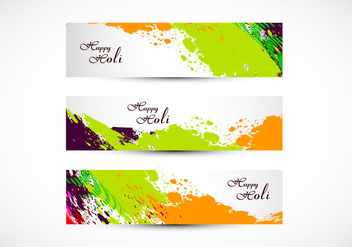 Headers Of Happy Holi - Kostenloses vector #354933