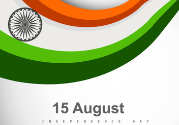 Tri Color Indian Flag - Free vector #355023