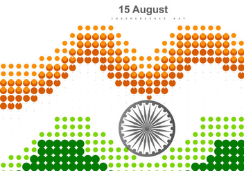 Dotted Tri Color Indian Flag - Kostenloses vector #355033