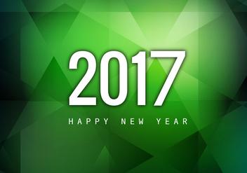 Happy New Year 2017 On Green Background - бесплатный vector #355053