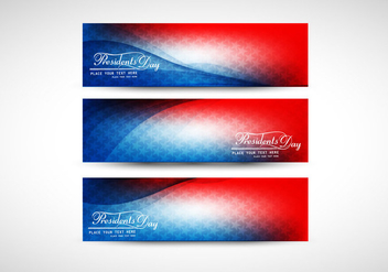 Three Colorful Banner Of President Day - vector gratuit #355073