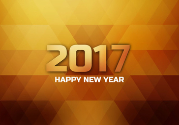 Shining 2017 Happy New Year Card - vector gratuit #355083
