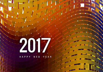 Greeting Card Of Happy New Year 2017 - vector gratuit #355113
