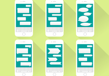 Imessage Conversation Icons Iphone Flat Illustration - Kostenloses vector #355143