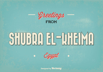 Retro Shubra Egypt Greeting Illustration - vector gratuit #355203