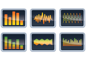 Sound Bars Display Vectors - бесплатный vector #355283