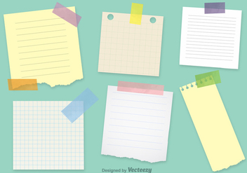 Office Notepaper Vector Templates - Free vector #355293