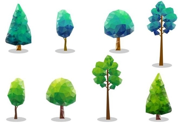 Free Vector Tree Tops - vector #355373 gratis