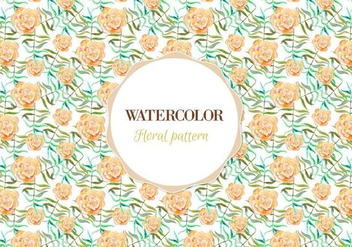 Free Vector Watercolor Floral Pattern - Kostenloses vector #355393