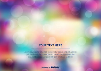 Colorful Blurred Bokeh Background - Kostenloses vector #355413
