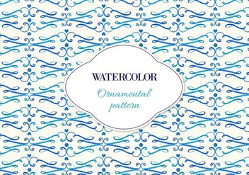 Free Vector Watercolor Ornamental Pattern - vector gratuit #355423