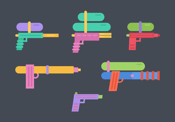 Free Water Guns Vector Pack - Kostenloses vector #355673